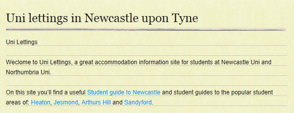 Uni Lettings Newcastle